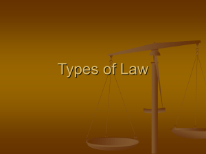 Types of Law - Lepley