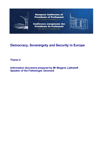 Democracy, Sovereignty and Security in Europe