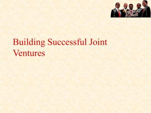 Building Successful Joint Ventures