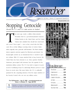 Stopping Genocide