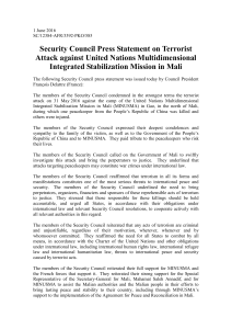 Security Council Press Statement on Terrorist Attack against United