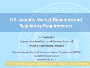 U.S. Annuity Market Dynamics and Regulatory Requirements