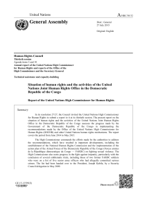 Situation of human rights in the Democratic Republic of