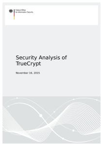 Security Analysis of TrueCryptpdfauthor - BSI