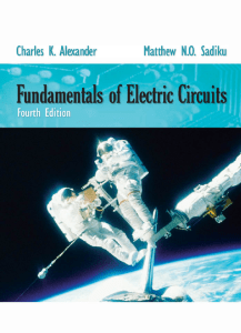 Fundamentals of Electric Circuits - Port City International University