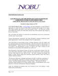 FOR IMMEDIATE RELEASE CAESARS PALACE AND NOBU