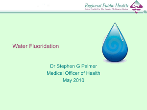 Water Fluoridation - Ministry of Health