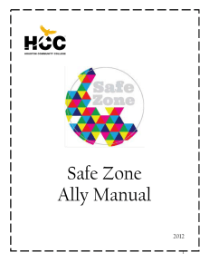 Safe Zone Ally Manual - Houston Community College