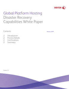 Global Platform Hosting Disaster Recovery Capabilities
