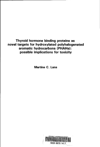 Thyroid hormone binding proteins as novel targets for hydroxylated