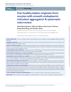 Can healthy babies originate from oocytes with smooth endoplasmic
