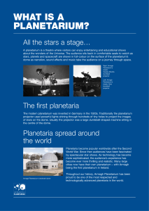 The modern planetarium was invented in Germany in the 1920s