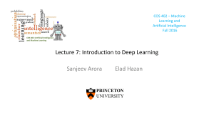Lecture 7: Introduction to Deep Learning Sanjeev
