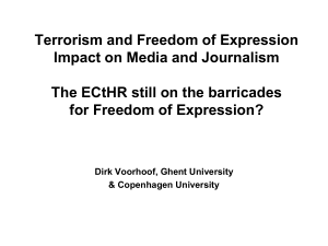 Terrorism and freedom of expression