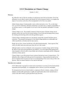 UUCF Resolution on Climate Change
