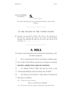 Sentencing Reform and Corrections Act