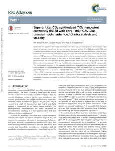 Supercritical CO2 synthesized TiO2 nanowires covalently linked