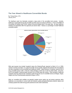 The Year Ahead in Healthcare Convertible Bonds