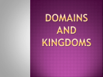 Domains and kingdoms - Peoria Public Schools
