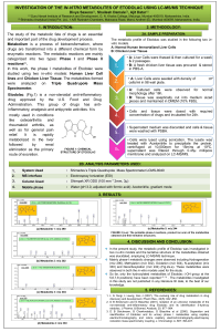 investigation of the in-vitro metabolites of etodolac using
