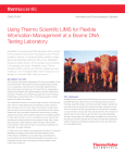 Using LIMS for Flexible Information Management at a Bovine DNA