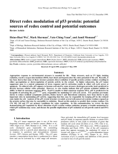 Direct redox modulation of p53 protein: potential sources of redox