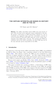 The Diffuse Interstellar Bands in History and in the UV