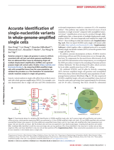 Accurate identification of single-nucleotide