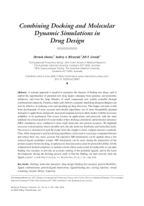 Combining docking and molecular dynamic simulations in drug design