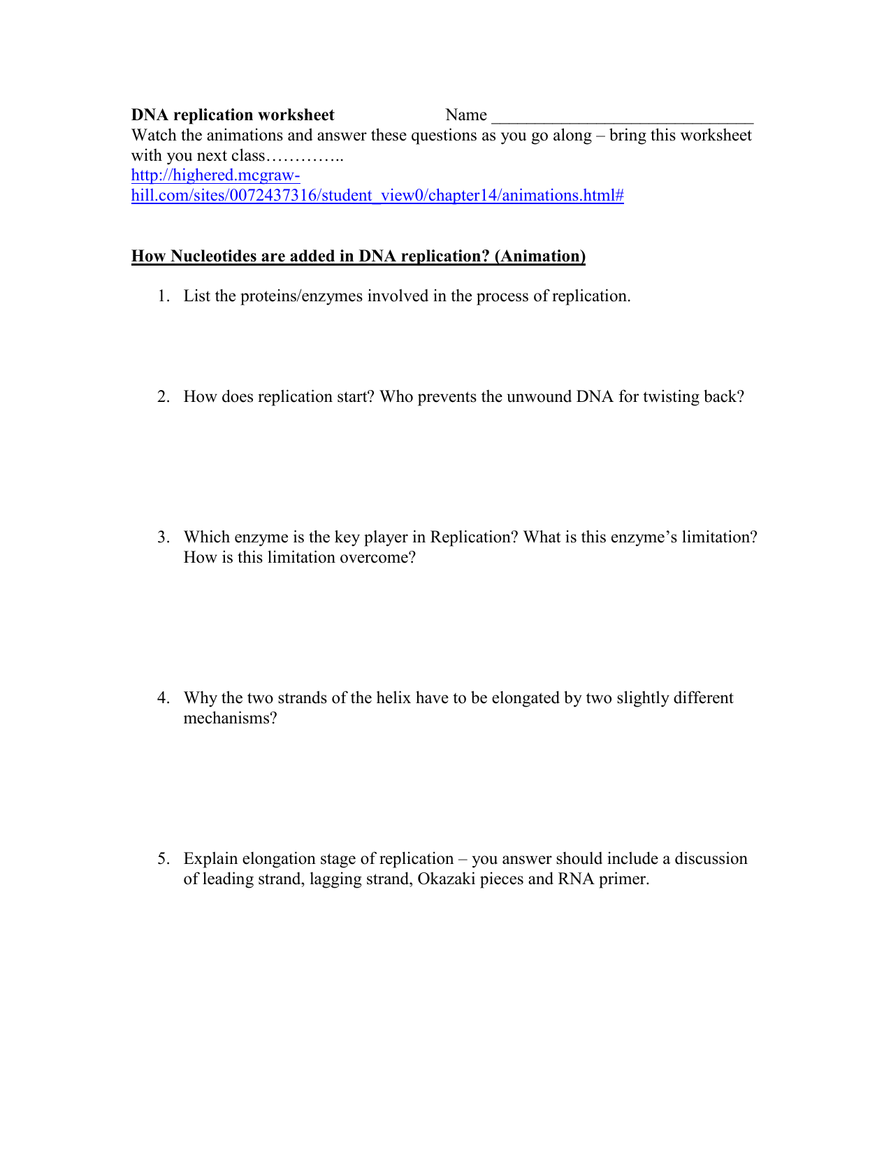 Dna Replication Worksheet Answer Promotiontablecovers [ 1651 x 1275 Pixel ]