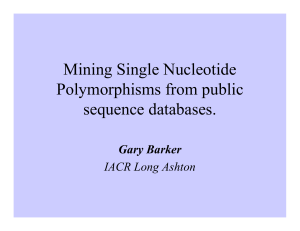 Mining SNPs from public sequence Databases