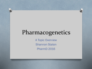Pharmacogenetics
