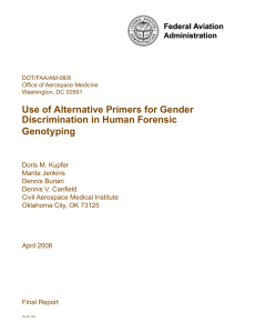 Use of Alternative Primers for Gender Discrimination in Human
