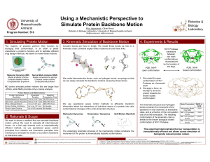 Using a Mechanistic Perspective to Simulate Protein Backbone Motion