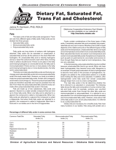 Dietary Fat, Saturated Fat, Trans Fat and