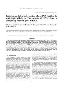 Isolation and characterization of an RNA that binds with high affinity