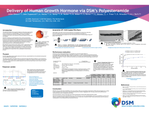 Delivery of Human Growth Hormone via DSM`s Polyesteramide