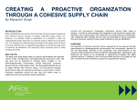 creating a proactive organization through a cohesive supply chain