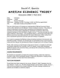 MARXIAN ECONOMIC THEORY