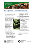 4: Significant Food Code Changes
