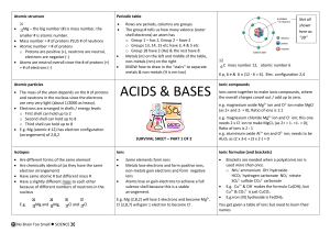 acids and bases - No Brain Too Small