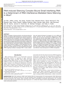 RNA-Induced Silencing Complex-Bound Small Interfering RNA Is a