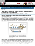 Covalently bound selenium has potential for hydraulically fractured