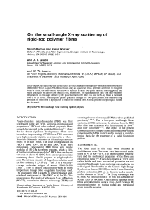 On the small-angle X-ray scattering of rigid-rod