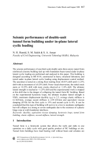 Seismic performance of double-unit tunnel form building