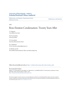 Bose-Einstein Condensation: Twenty Years After