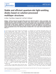 Stable and efficient quantum-dot light