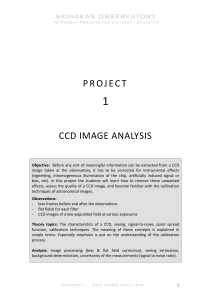 Project 1. CCD image analysis