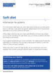 Soft diet - King`s College Hospital NHS Foundation Trust