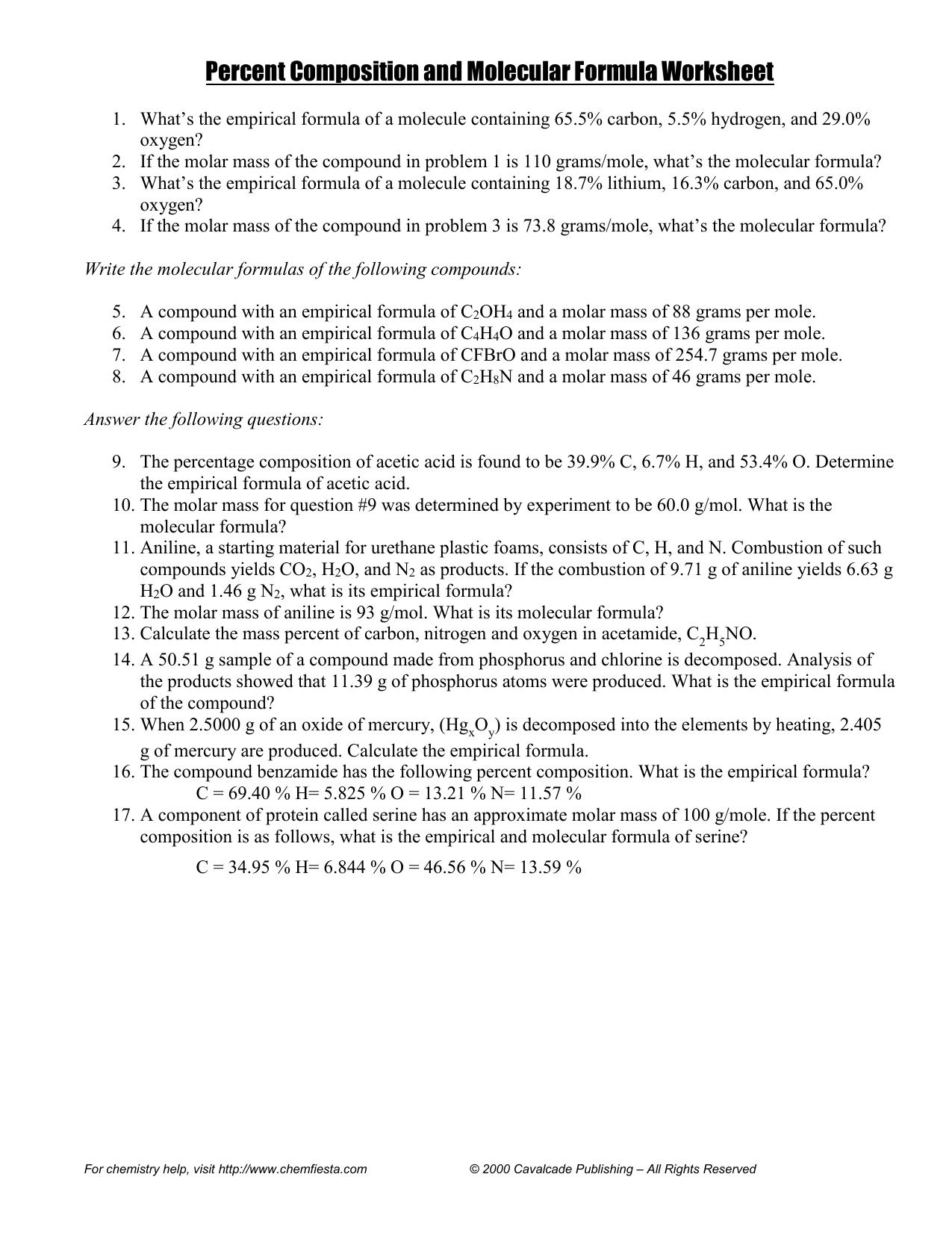 Worksheets Percent Composition By Mass Worksheet percent composition and molecular formula worksheet 022341900 1 2fa7d67923da2b742a27c8529fe3d458 png